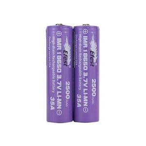 Efest IMR 35A 18650 Nipple Top Battery 2500 mAh - 2 Pack