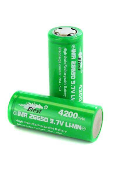 Efest IMR 3.7V 26650 Flat Top Battery 4,200 mAh Set 2