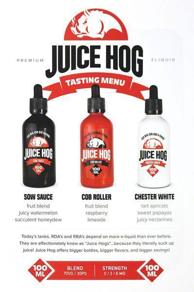 Juice Hog Flavor Menu - 25 pack