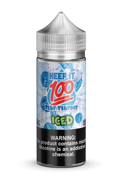 Blue Slushie Iced 100ml E-Juice - Keep It 100 Vape Liquid