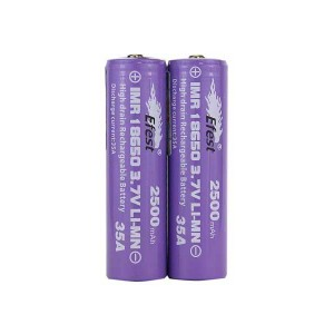 Efest IMR 35A 18650 Nipple Top Battery 2500 mAh - 2 Pack