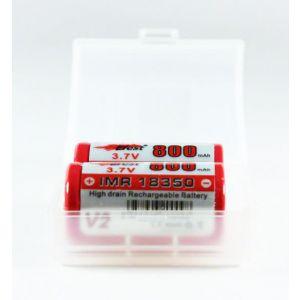 2 x 18350 Battery Case Open
