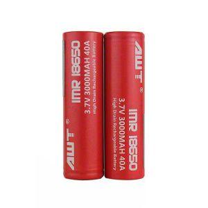 AWT 18650 40A 3000 mAh Battery - 2 Pack