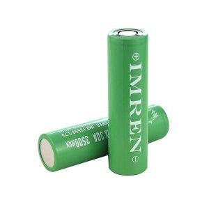 Imren IMR 18650 30A 3500 mAh flat top battery - 2 pack
