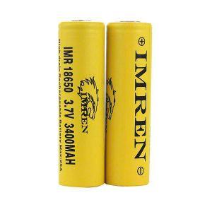 Imren IMR 18650 25A 3400 mAh flat top battery - 2 pack