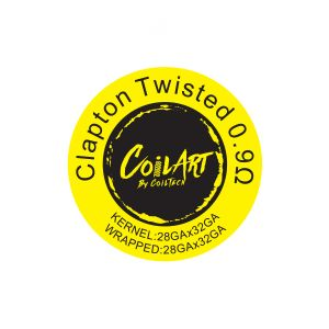 CoilArt Clapton Twisted Prebuilt Coil - 10 pack