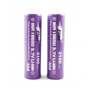 Efest IMR 30A 18650 Flat Top Battery 2,100 mAh 2 Pack