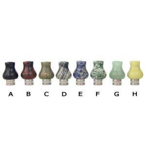 Stainless Steel and Jade Vase Drip Tip