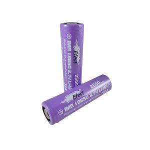 Efest IMR 35A 18650 Flat Top Battery 2500 mAh - 2 Pack